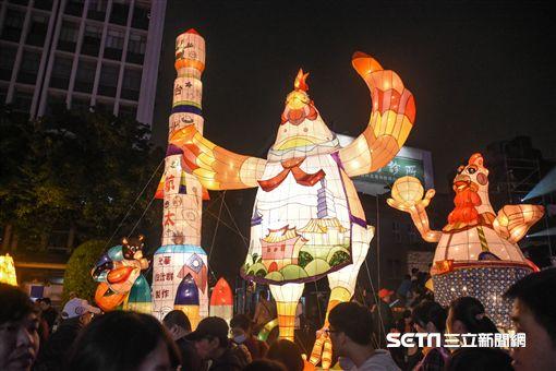 2017台北燈節,元宵節,點燈儀式, 圖/記者林敬旻攝影