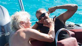 歐巴馬玩風箏衝浪/Richard Branson臉書
