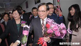 新舊任勞動部長交接,郭芳煜 圖/記者林敬旻攝