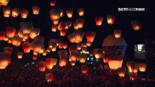 15萬人湧平溪放天燈!主燈彩繪「台日景點」