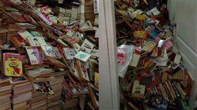 高雄地震,網友房間的書被震垮/爆料公社