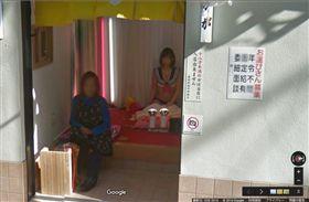 日本紅燈區「飛田新地」禁止拍照,卻被Google街景清楚拍下。(圖/翻攝自日本論壇《2ch》)