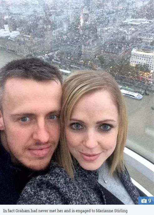 英國一名女子利用修圖、合成照,謊稱自己有男友。(圖/翻攝自英國《太陽報》)
