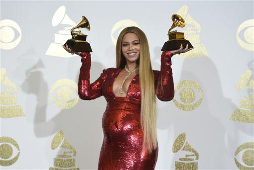 碧昂絲,Beyonce,葛萊美,2017(圖/美聯社/達志影像)