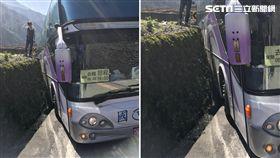 疑會車不慎!國光客運今出團賞櫻車撞壁 40乘客無傷