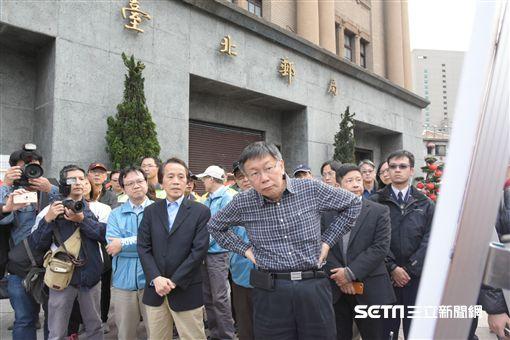 台北市長柯文哲視察北門西區門戶計畫 圖/記者林敬旻攝