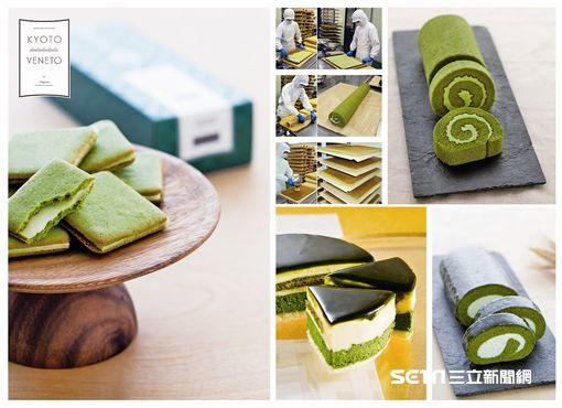 KYOTO VENETO京都私房伴手禮登台,抹茶甜點。(圖/新光三越提供)