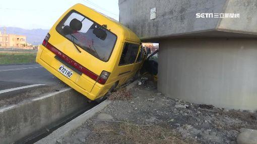 娃娃車擦撞轎車 學童飽受驚嚇幸無礙