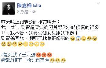 Ella,陳嘉樺,賴斯翔,賴解孵,懷孕,超音波/臉書