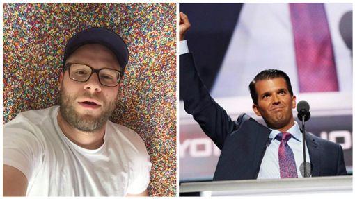 男星推特被川普兒追蹤 發文「叫你爸辭職」被網友推爆 圖/翻攝自Donald Trump Jr.推特、Seth Rogen特