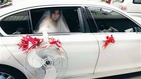 新娘丟工業扇(圖/翻攝自爆料公社臉書)