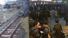 強風,電車,停駛,上班族 圖/翻攝自世界のYAZAWA@日本のTAZAWA Twitter