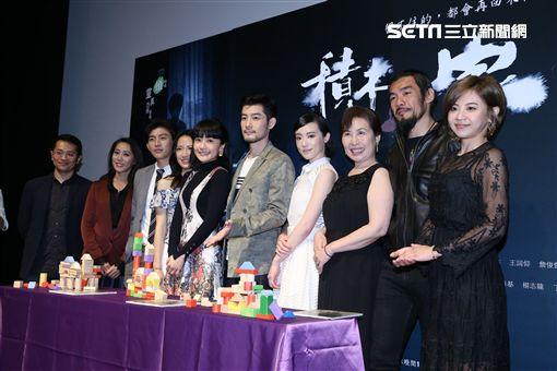 戲劇積木之家舉辦首映會,主要演員施易男.曾少宗.林子熙.范宸菲等人齊聚造勢