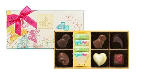 白色情人節,櫻花千層派,黃金麵包,GODIVA巧克力。(圖/業者提供)