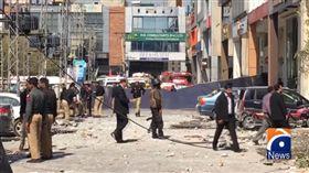 巴基斯坦高檔購物區驚爆0223(圖/翻攝自geonewsenglish YouTube)