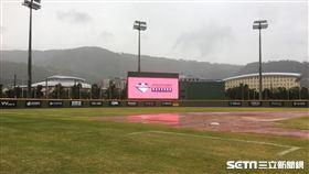 世大運棒球邀請賽中華培訓隊與捷克的比賽因雨取消/天母棒球場(圖/記者陳怡汝攝)