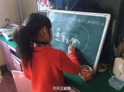 中國大陸,女童,作文(圖/翻攝自天天正能量微博)