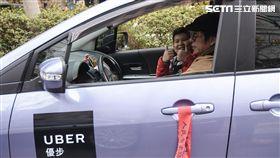 Uber停業,交通部靜坐抗議,公路法 圖/記者林敬旻攝