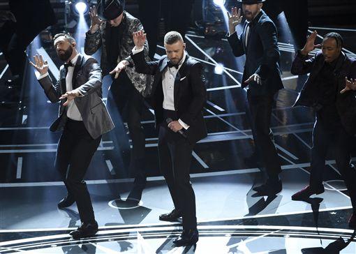 奧斯卡頒獎典禮表演,大賈斯汀Justin Timberlake  圖/美聯社