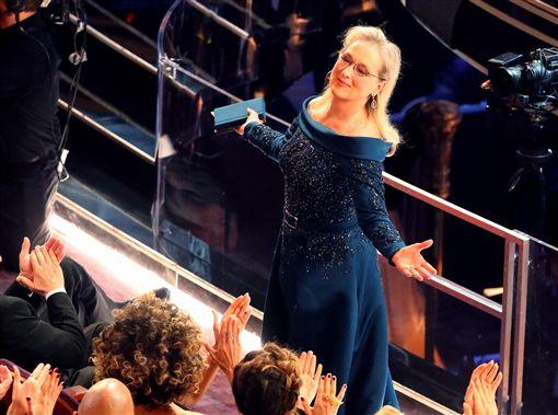奧斯卡紅毯星光大道梅莉史翠普(Meryl Streep) 圖/路透社