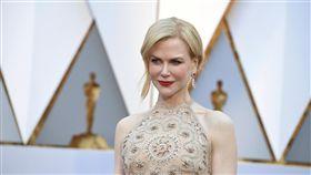 奧斯卡,星光大道,妮可基嫚(Nicole Kidman)以《漫漫回家路》(Lion)入圍最佳女配角。(圖/美聯社/達志影像)