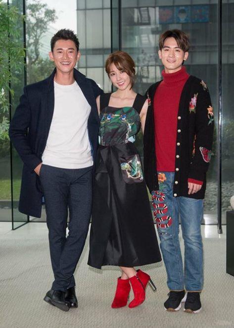 小樂和吳慷仁、邵雨薇等人合作偶像劇《極品絕配》。(圖/翻攝自小樂臉書)