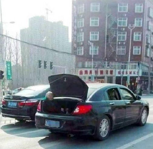 後車廂,老母 圖/翻攝自中國經濟網