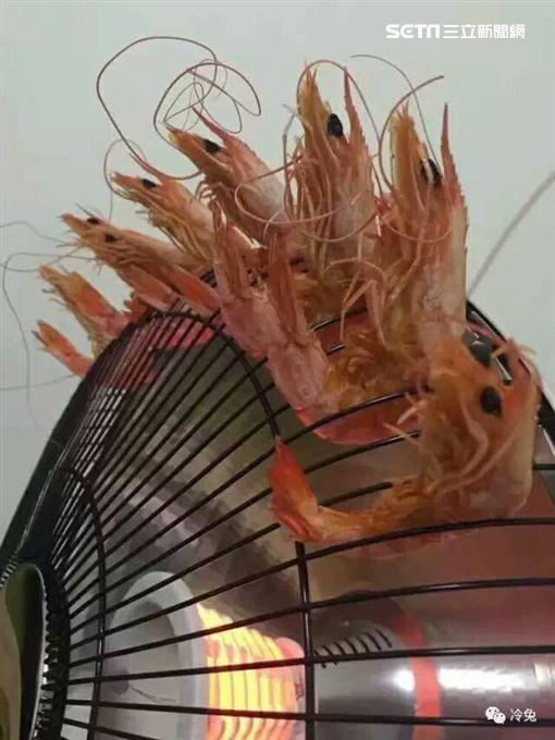 電磁爐烤蝦
