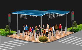 過馬路,斑馬線,行人投影,神器,深圳,大陸 圖/翻攝自深圳新聞網