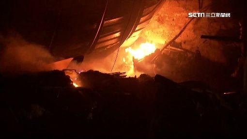木材工廠陷入火海 300坪廠房付之一炬