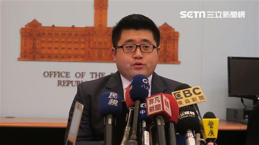 總統府發言人林鶴明。(記者盧素梅攝)