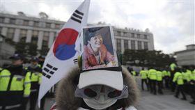 南韓反朴槿惠(圖/美聯社/達志影像)