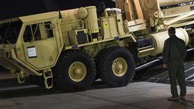 美國部署「戰區高空防禦系統」(THAAD,薩德)運抵南韓_美聯社/達志影像