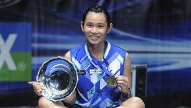 ▲球后戴資穎奪下全英羽球公開賽女單冠軍。(圖/美聯社/達志影像)