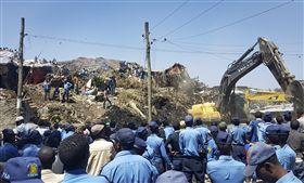 衣索比亞,非洲,垃圾山,崩塌,沼氣,發電廠 圖/美聯社/達志影像