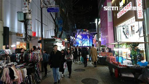 韓國首爾明洞街景。(圖/記者林敬旻攝)
