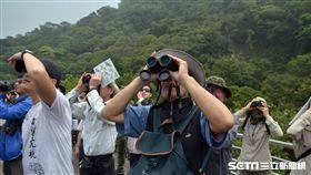 賞鳥,望遠鏡,猛禽賞鷹活動『觀音‧觀鷹』。(圖/北觀處提供)