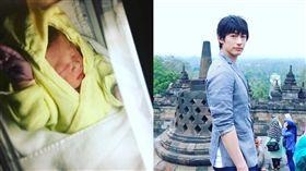 藤岡靛曬寶貝萌照 與印尼美人妻喜迎三寶。資料來源:藤岡靛Instagram