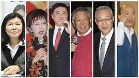 國民黨,黨主席,吳敦義,洪秀柱,郝龍斌,韓國瑜,詹啟賢,潘維剛 圖/記者林敬旻攝影、中央社