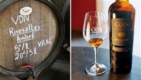 法國Rivesaltes產區的加烈甜白酒 左:(圖/攝影者Connie Ma, Flickr CC License)https://goo.gl/rFmjOv 右:(圖/林裕森攝影/商業周刊)