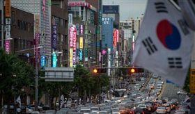 南韓、大陸國旗/微博