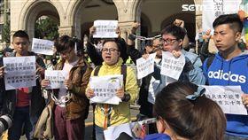 同婚釋憲 挺同學生 圖/記者潘千詩攝影