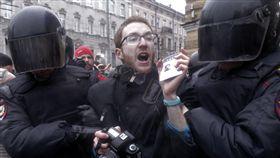 俄反貪遊行 異議領袖在內傳700人被捕(圖/美聯社/達志影像)