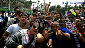 ▲Marion在中興大學與球迷開心互動。(圖/記者林辰彥攝影)