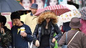 下雨,降雨,天氣,氣象,寒流,冬天,濕冷 圖/中央社