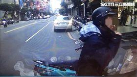 王男趁四下無人竊取貨車內的黑色包包,警方透過行車紀錄器發現行竊過程,循線追查卻發現他已入監服刑(翻攝畫面)