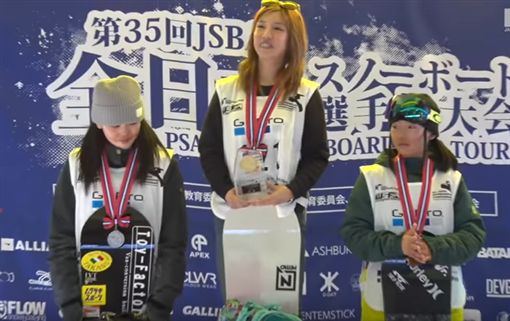 今井夢露曾奪下全日本滑雪板大賽冠軍。(圖/翻攝自YouTube)