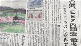 日本產經新聞報導,台灣的海洋調查船在未經日本核准下,去年8度闖入釣魚台周邊日本EEZ從事海洋調查。(中央社)
