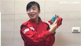 日本國寶級清潔婦新津春子來台。(圖/記者馮珮汶攝)