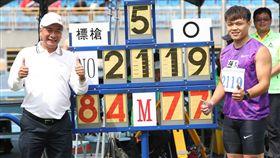 ▲鄭兆村打破以84公尺77男子標槍全國紀錄。(圖/中華民國田徑協會提供)